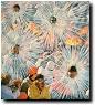 Ohne Titel (Winterstrahlen), 2007, Ausradierung auf Offset-Print, 27 x 24 cm
