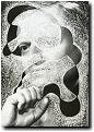 Ohne Titel, 2005, Ausradierung auf offset-print